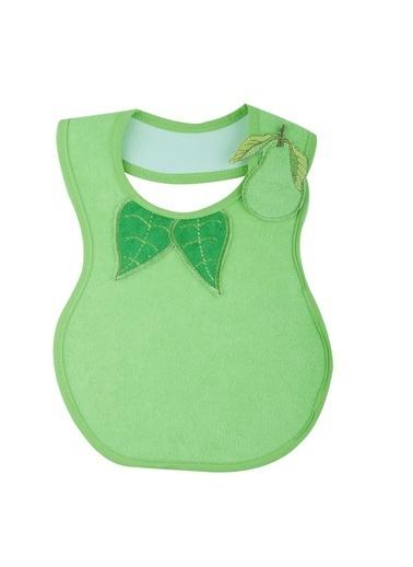 Baby Jem Armut Desenli Mama Önlüğü  Yeşil